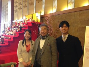 ホテルオークラの桃の花.JPG